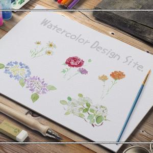 水彩画の植物イラストが数多く揃う無料イラスト素材サイト『Watercolor Design Site.』