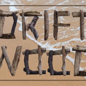 流木で形成された無料アルファベット素材