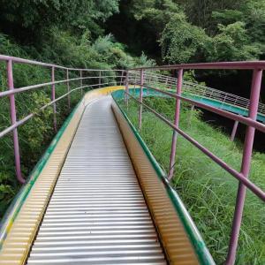 朝のサイクリング 高見山公園の97mの滑り台を滑ってきた 小豆島旅行⑨