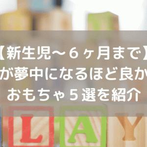 【新生児~6ヶ月まで】子供が夢中になるほど良かったおもちゃ5選を紹介