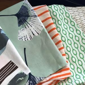 IKEAで購入したリネンを整理してみました   I took out  the linens I bought at IKEA before.