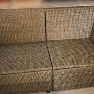 IKEA リゾート風ベンチのその後   cushions for the IKEA resort style bench