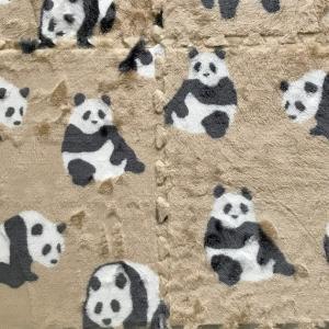 ダイソー  パンダ柄 ふわふわボアマットのその後    Fluffy bore joint mat (2)