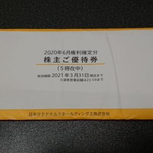 株主優待到着!「日本マクドナルドホールディングス株式会社(2702)」