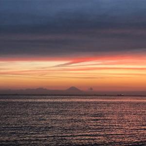 【日本の夕陽百選】北条海岸から臨む夕陽