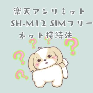 【最新】楽天アンリミット AQUOS sense3 SH-M12 SIMフリー  ネット接続方法