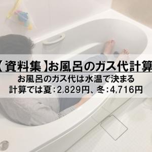 【資料集】お風呂のガス代は水温で決まる