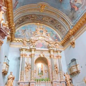 イタリア/アッシジ村 神殿の中に作られた教会【サンタ・マリア・ソプラ・ミネルヴァ教会】