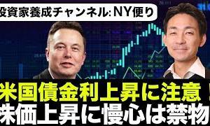 【初心者向けのオススメ情報】米国株は金利の急激な上昇に注意!テスラが元気!