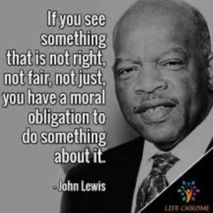 ジョン ルイス •間違った事に声を上げる道徳的義務•