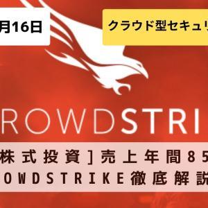 [米国株式投資]売上年間85%成長「CrowdStrike(クラウドストライク)」徹底解説!