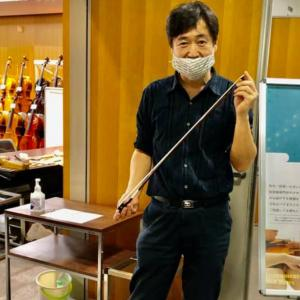 京都のヴァイオリンフェアで弓を購入
