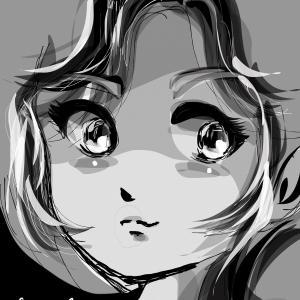 ホンキで擬人化❶はやぶさ〜カラーで描くより白黒が楽!