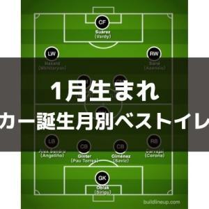 【1月生まれのスターが集結!】サッカー誕生月別ベストイレブン