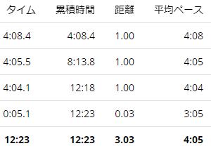 練習日誌21/1/13ペース走3km ダイエット記録
