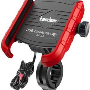 最近のスマホには電圧が足りないので、バイク用充電器を交換!!