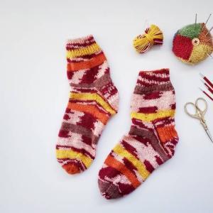 自由に編みたい手編みの靴下