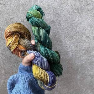毛糸の染色