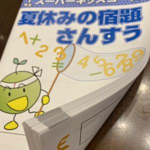 5年の夏休み&1年生の早稲アカ宿題