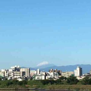 秋晴れ、富士山、風もなく、、、