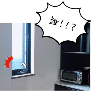 恐怖!窓の隙間から覗く目!!