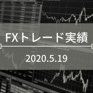 FXトレード実績[2020.5.19]:92円の利益確定!
