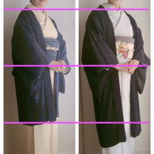 似合う紋紗はやはり花紋 羽織丈はどっちが似合う?