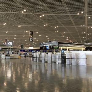 成田空港にて。