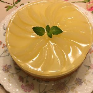 洋梨ゼリーのケーキ