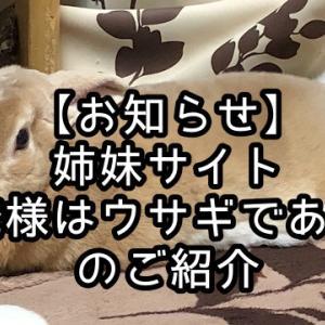 """【お知らせ】姉妹サイト """"俺様はウサギである"""" のご紹介"""