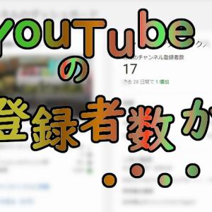 ショック・・・Youtube登録者数が・・