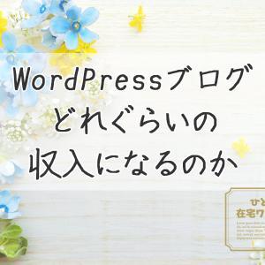 WordPressブログ-PVと収益はどれぐらい