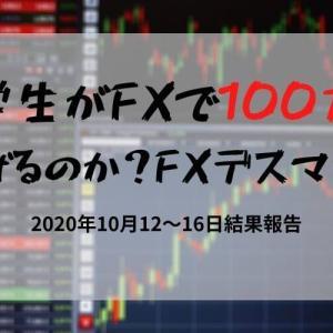 大学生が10万円を100万円にできるのか?FXデスマッチ! 2020年10月12~16日