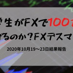 大学生が10万円を100万円にできるのか?FXデスマッチ! 2020年10月19~23日結果発表!
