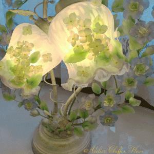 ランプを灯す デルフィニウムのランプ