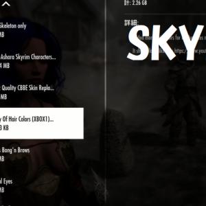 【Xbox】SKYRIM +mod 91 mod紹介美化系。ファッション美化、髪の色、きれいな肌、女性的なアクション3つ。