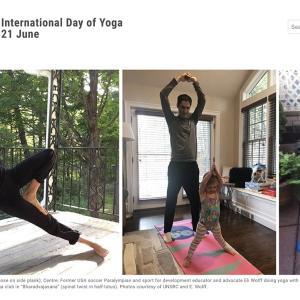 国連のホームページにも掲載!6/21 is International Yoga Day!!