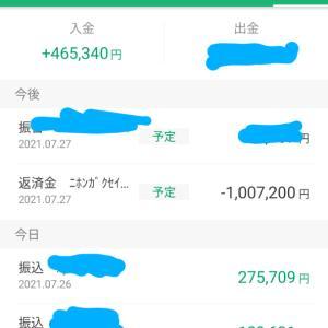 7月分賞与!!