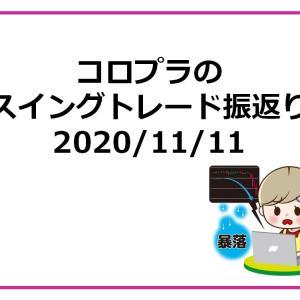 コロプラのスイングトレード振返り 2020/11/11