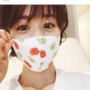 加藤綾子  ガチャピン柄マスクしても「子供用」なのに…