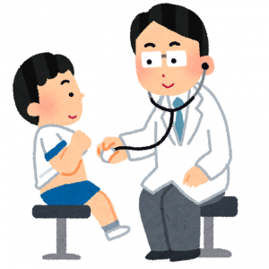 ゆーたろー、1歳児検診に行く