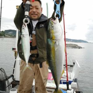 9月21日 館山沖・ワラサ好調!大サバ入れ食い!!