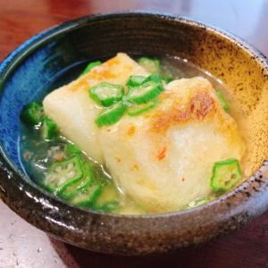 『揚げ出し豆腐の蟹オクラあんかけ』レシピ付き
