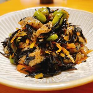 『ひじきと枝豆の煮物』レシピ付き