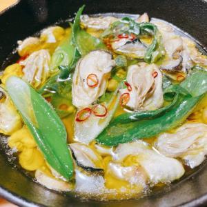 『牡蠣と九条ネギのアヒージョ』レシピ付き