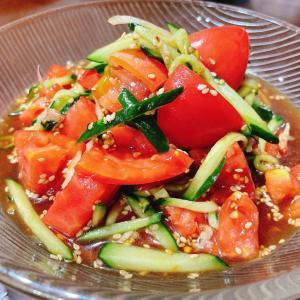 『きゅうりと茗荷のトマトサラダ』レシピ付き