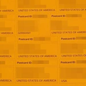 究極のポスクロ宛名印刷 オレンジ編はデコ1枚
