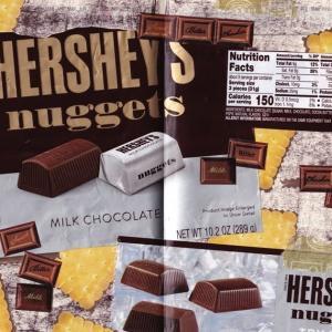 ジャーナルコラージュ:HERSHEY'S nuggetsの思い出