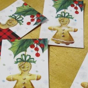 ペーパーナプキンでクリスマスカード作成