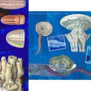 ハンドメイドポストカード #16-17:深海&クラゲ